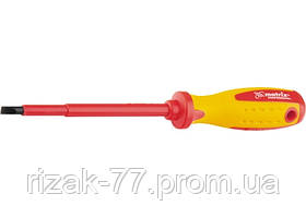 Отвертка Insulated, SL8, 0 x 150 мм, CrMo, до 1000 В, двухкомп. рукоятка MTX PROFESSIONAL