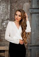 Женская блузка с запахом длинный рукав
