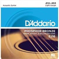 Струны D'Addario EJ16 для акустической гитары