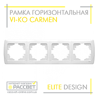 Рамка VI-KO Carmen горизонтальная четверная белая