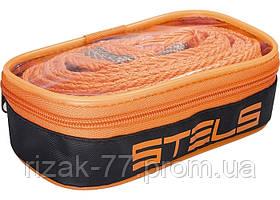 Трос буксировочный STELS - 5 тонн, 2 крюка, сумка на молнии STELS