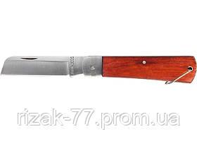 Нож складной, 200 мм, прямое лезвие, деревянная ручка SPARTA