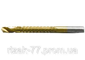 Сверло-фреза MATRIX, 6 мм, универсальное, нитридтитановое покрытие, цилиндрический хвостовик MTX