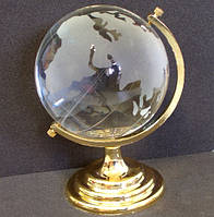 Глобус хрустальный белый 10х6,5х6,5 см (6)
