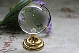 Глобус хрустальный белый 10х6,5х6,5 см (6) , фото 3