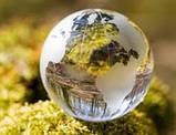 Глобус хрустальный белый 10х6,5х6,5 см (6) , фото 4