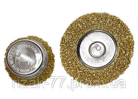 Набор щеток для дрели, 2 шт., 1 плоская, 100 мм, + 1 чашка, 75 мм, со шпильками, мет. MTX