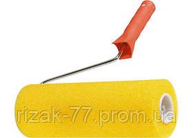Валик СТРУКТУРНЫЙ поролоновый с ручкой, гладкий, 230 мм, D - 80 мм MTX