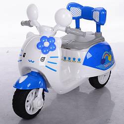 Детский электрический мотоцикл 99118A-8 Hello Kitty голубой