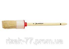 Кисть круглая № 8 (35 мм), натуральная щетина, деревянная ручка MTX