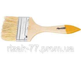 Кисть плоская Slimline 1, натуральная щетина, деревянная ручка SPARTA