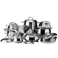 Набор посуды Vinzer Grand Majestic (89036) 19пр. из нержавеющей стали
