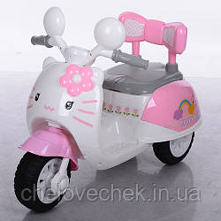Детский электрический мотоцикл 99118A-8 Hello Kitty розовый