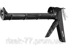 Пистолет для герметика, 310 мл, полуоткрытый, круглый шток 7 мм, утолщенные стенки SPARTA