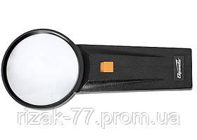 Лупа 2.5-кратна, D 75 мм, з підсвічуванням, з рукояткою SPARTA
