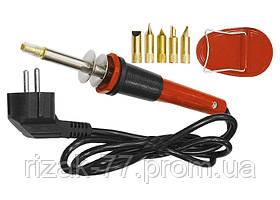 Набор для выжигания SPARTA, 7 предм. (выжигатель 30 Вт, 220 В, подставка, набор жал сменных) SPARTA