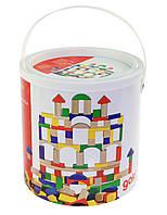 Goki Конструктор деревянный Строительные блоки, арт. 58669