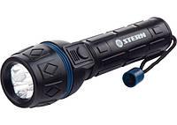 Фонарик светодиодный, ударопрочный корпус, влагозащищённый, 3 ярких светодиода, 2хАА, Stern