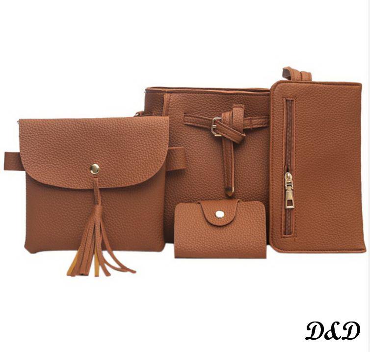 Набор женских сумок коричневый
