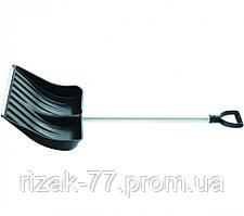 Лопата снеговая, 512х408 мм, алюминиевый черенок, морозостойкий пластик СИБРТЕХ