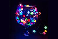 Вулична Світлодіодна Гірлянда Кульки Новорічна на Ялинку 0,8 см 40 LED Мульти, фото 1