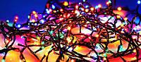 Вулична Світлодіодна Гірлянда Нитка Дрібні Діоди Багатобарвна 100 LED Мульти, фото 1