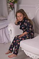 Льняной костюм для девочки, 110 - 140 см. Детский, подростковый модный летний костюм, лен.