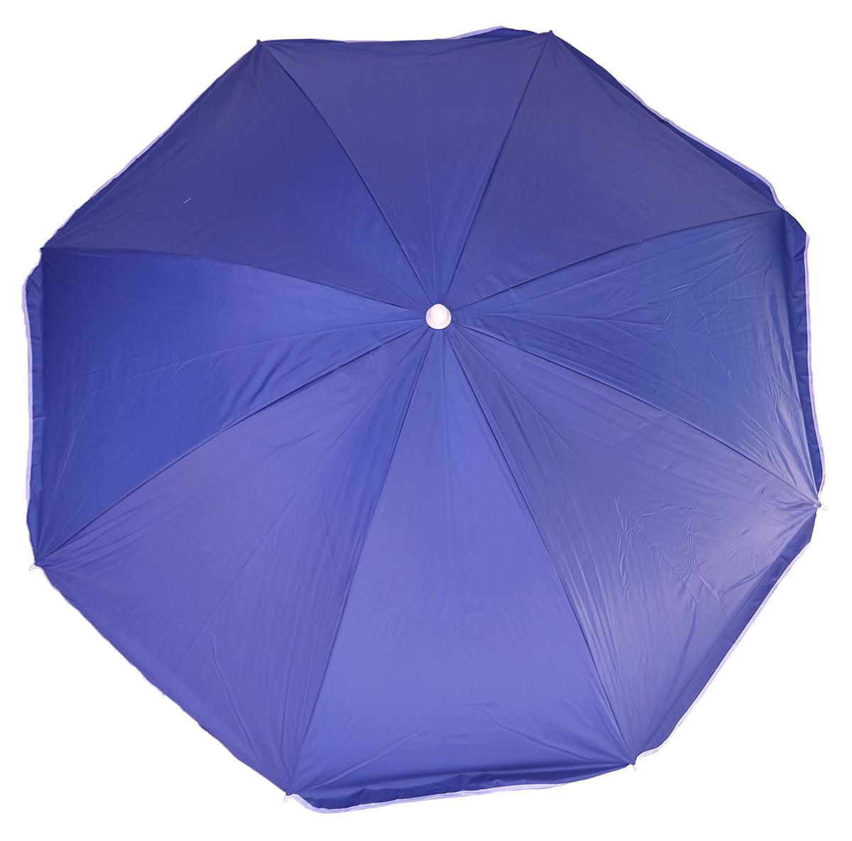 Пляжный торговый зонт 2.2 м однотонный система ромашка+антиветер