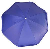 Пляжный торговый зонт 2.2 м однотонный система ромашка+антиветер, фото 1