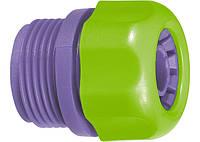 Зєднувач пластмасовий для шланга 1 / 2 , із зовнішньою різьбою 3 / 4 PALISAD