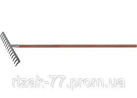 Граблі з деревяним держаком, сталеві, покриті епоксидом PALISAD LUXE