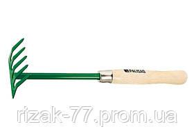 Граблі 5-зубі, 90 мм, деревяна ручка 340 мм PALISAD