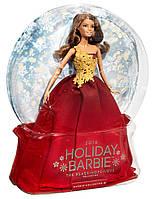 Кукла Barbie Праздничная в красном платье Barbie 2016 Holiday Doll