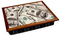 Поднос на подушке доллары