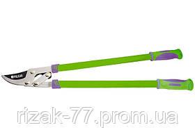 Сучкорез PALISAD 750 мм, с прямым лезвием, рычажный механизм, усиленное лезвие, двухкомпонентные ручки PALISAD