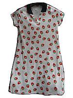Платье женское (коттон,стрейч) клубничка Турция оптом 7 км Одесса