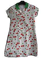 Платье женское (коттон,стрейч) вишенки Турция оптом 7 км Одесса