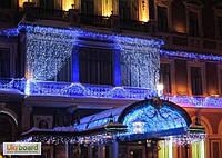 Светодиодная Гирлянда Штора Новогодняя Занавеска 600 LED Цвета в Ассортименте