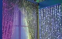Светодиодная Гирлянда Штора Новогодняя Занавеска 800 LED 2 х 4 м Синий Мульти