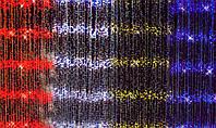 Гирлянда Водопад 560 LED Синяя Зеленая Мульти