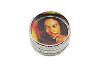 "Гриндер из 2-х частей  ""Bob Marley"". D- 3 см. H- 1,7 см."