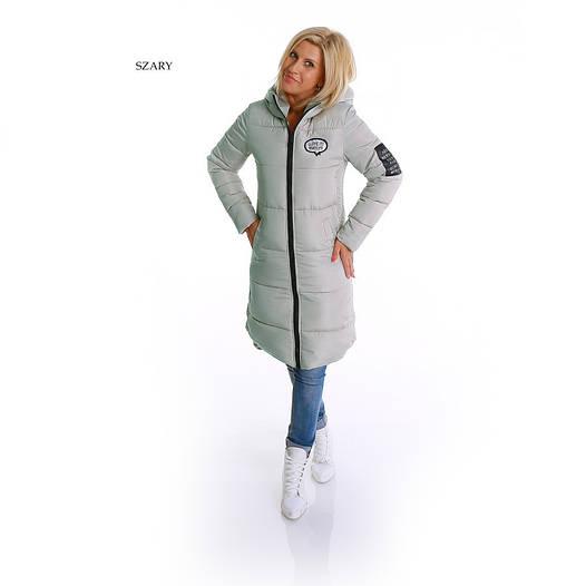 Женская зимняя куртка парка с капюшоном Гном Серый