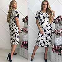 Стильное женское платье. Микро масло в размерах., фото 1