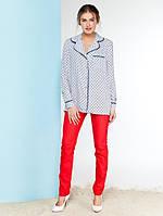 Женская свободная блуза в пижамном стиле Avrelia (разные цвета)