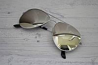 Солнцезащитные очки авиаторы капли унисекс Цветные Серебро в серебре