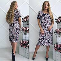 Платье летнее для женщин ниже колен. Большие размеры, фото 1