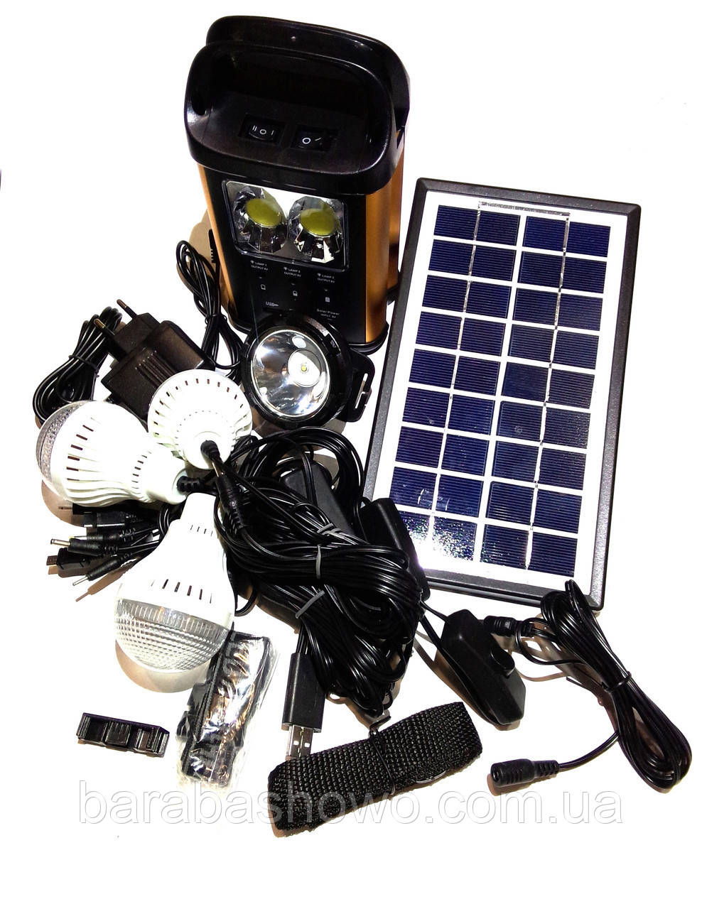 Універсальна портативна сонячна система GDLITE GD-8131(коногонка)