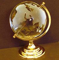 Глобус хрустальный белый 13х8,5х8,5 см (8)