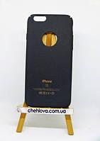 Гибкая полиуретановая накладка с Soft Touch покрытием для IPhone 7 черная