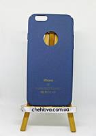 Гибкая полиуретановая накладка с Soft Touch покрытием для IPhone 7 синяя